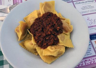 Sagra del Cinghiale, Tortelli e grigliata a Pelago